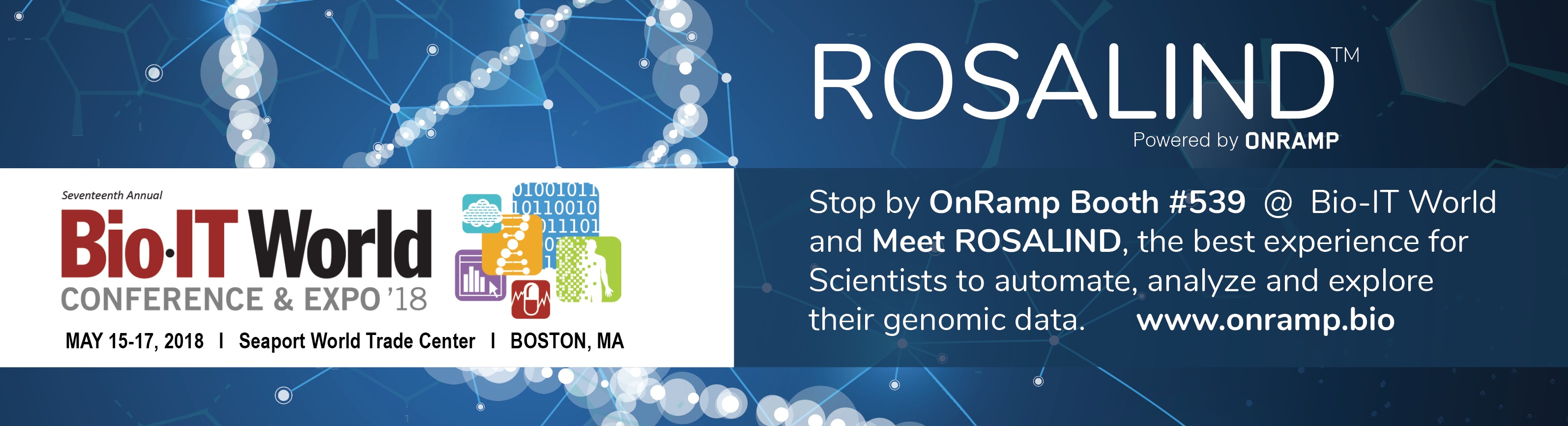 Come See ROSALIND at Bio-IT World 2018